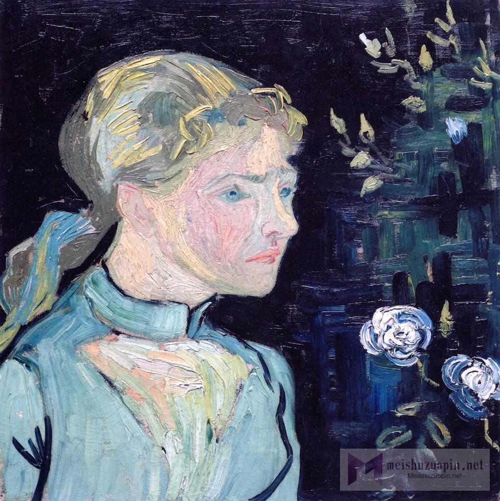 油画肖像_艾德琳_Adeline Ravoux-文森特·梵高