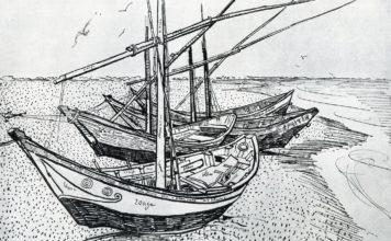 圣玛丽海滩的渔船