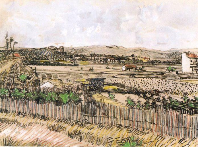 在普罗旺斯的收获,蒙马儒左侧_Harvest in Provence, at the Left Montmajour