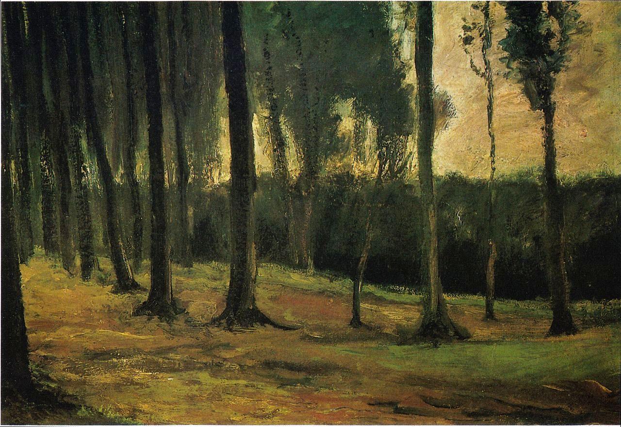 场景油画_森林边缘_Forest edge-文森特·梵高