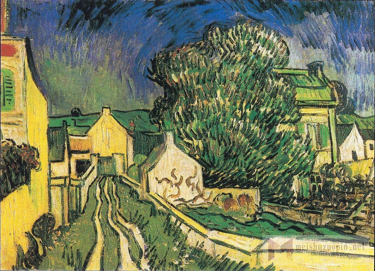 场景油画_皮隆神父的房子_The House of Père Pilon-文森特·梵高