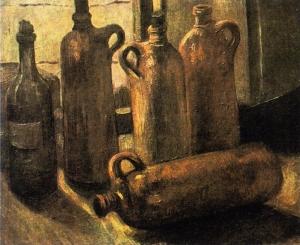 瓶中静物_Still Life with Bottles-文森特·梵高