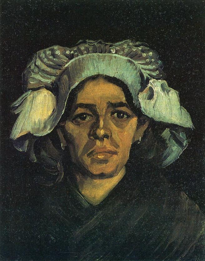 农妇,格罗塔·德·格鲁特的画像_Peasant Woman, Portrait of Gordina de Groot-文森特·梵高