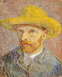 戴草帽的自画像_Self Portrait with a Straw Hat-文森特·梵高