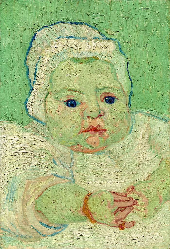 肖像油画_罗林的宝贝_Roulin's Baby-文森特·梵高