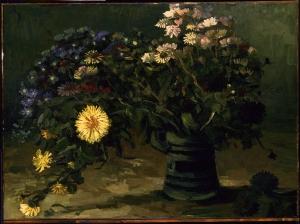 一束雏菊的静物_Still Life with a Bouquet of Daisies-文森特·梵高