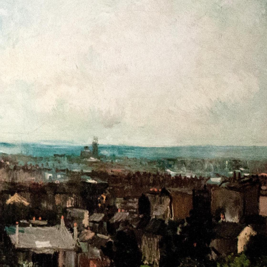 风景油画_从蒙马特附近看巴黎_View of Paris from near Montmartre-文森特·梵高