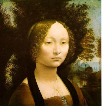 吉娜薇·本西肖像_Portrait of Ginevra Benci-列奥纳多·达芬奇