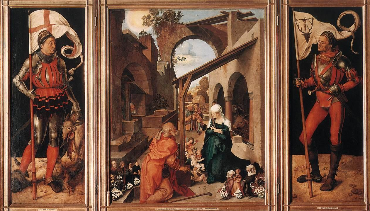 场景人物油画_保姆加特纳祭坛_Paumgartner Altar-阿尔布雷希特·丢勒