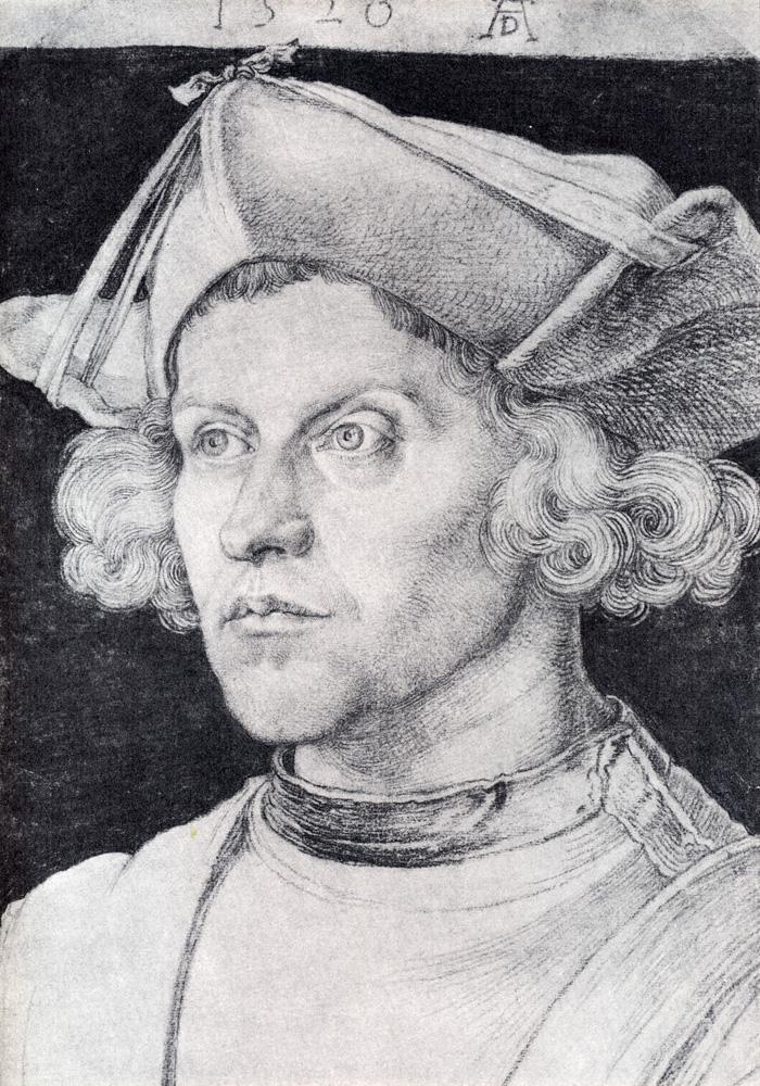 肖像素描画_一个无名男子的画像_Portrait Of An Unknown Man-阿尔布雷希特·丢勒