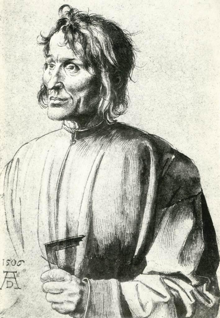 肖像素描画_建筑师的研究_Study of an Architect-阿尔布雷希特·丢勒