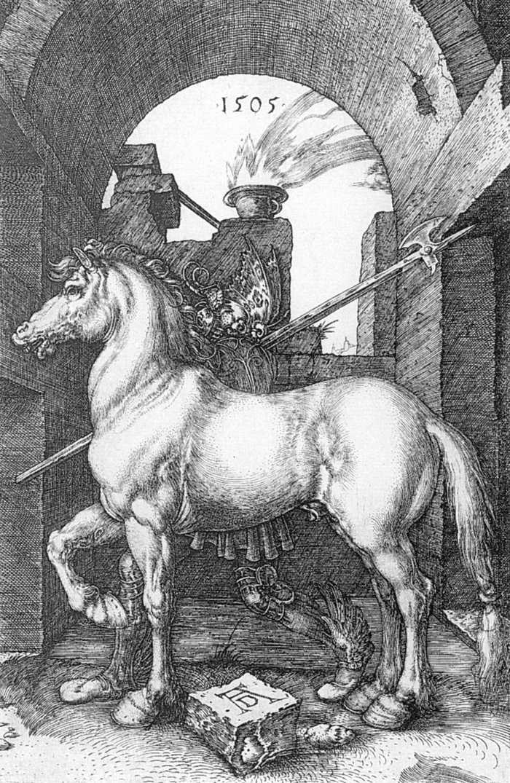 场景动物版画_小马_Small Horse-阿尔布雷希特·丢勒