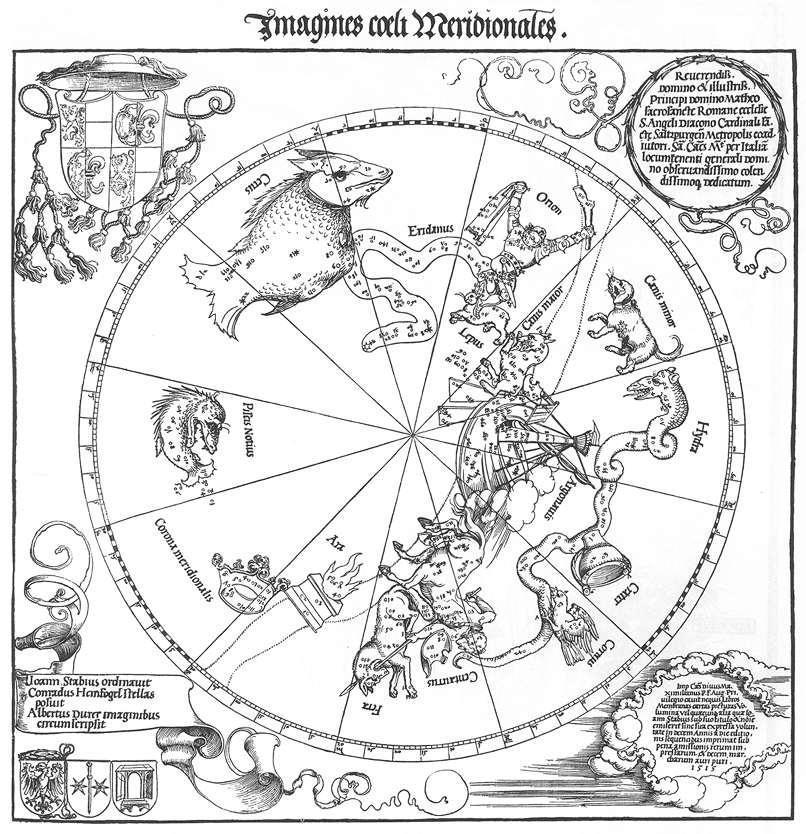 木刻版画_天球仪的南半球_The Southern Hemisphere of the Celestial Globe-阿尔布雷希特·丢勒