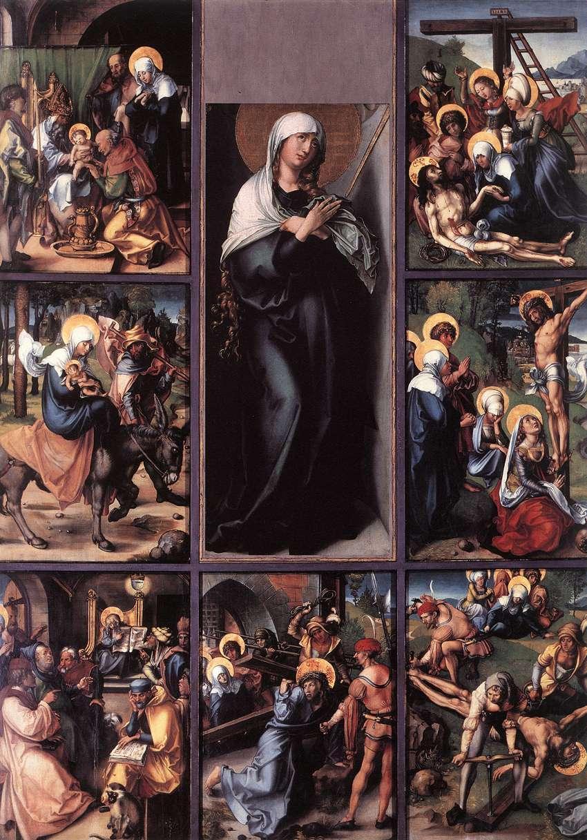 人物油画_圣母的七重哀伤_The Seven Sorrows of the Virgin-阿尔布雷希特·丢勒