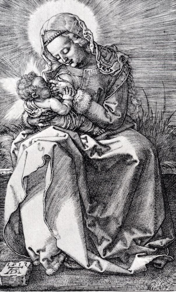 圣母玛利亚的哺育
