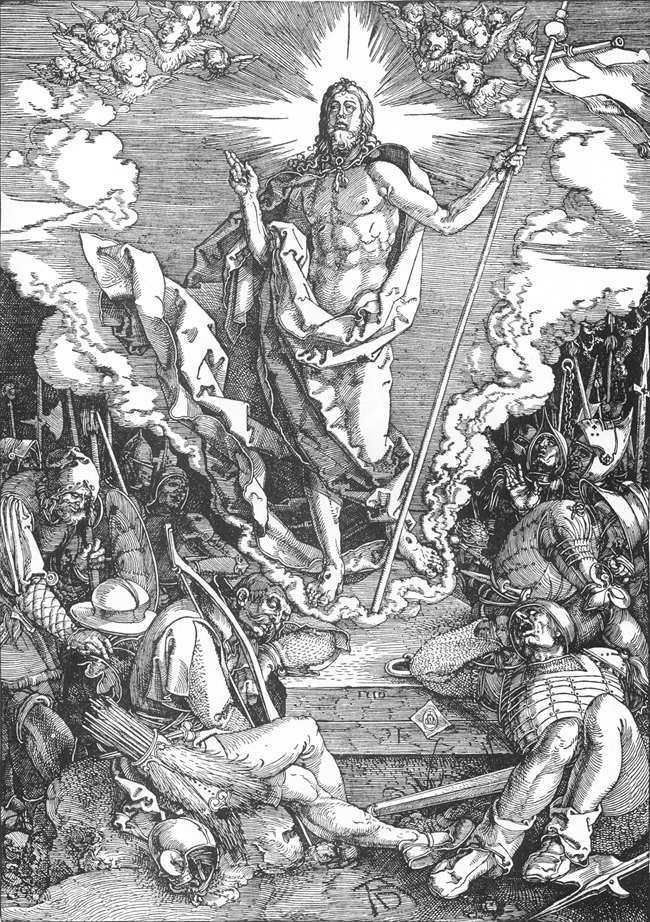 人物版画_基督受难记:12.基督的复活_The Large Passion: 12. The Resurrection of Christ-阿尔布雷希特·丢勒