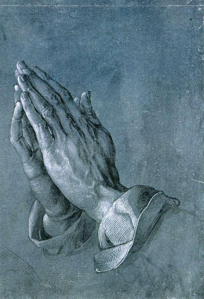 研究使徒的手(祈祷的手)_Study of an Apostle's Hands (Praying Hands)-阿尔布雷希特·丢勒