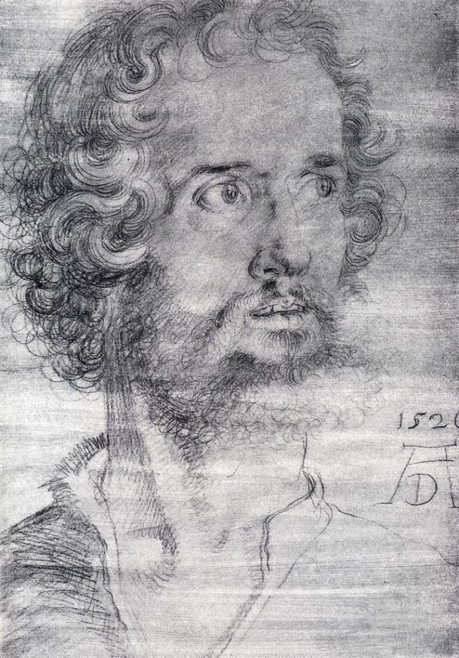 肖像素描画_圣马可大教堂院长_Head Of Saint Mark-阿尔布雷希特·丢勒