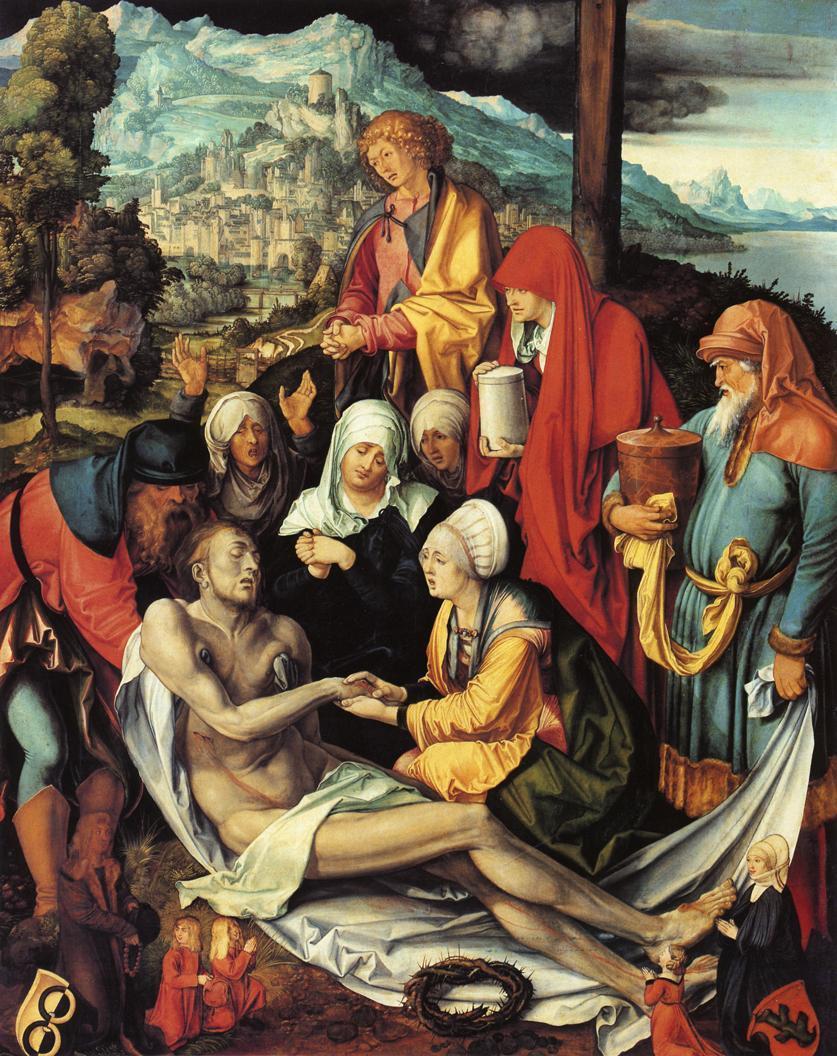 人物油画_哀悼基督_Lamentation for Christ-阿尔布雷希特·丢勒