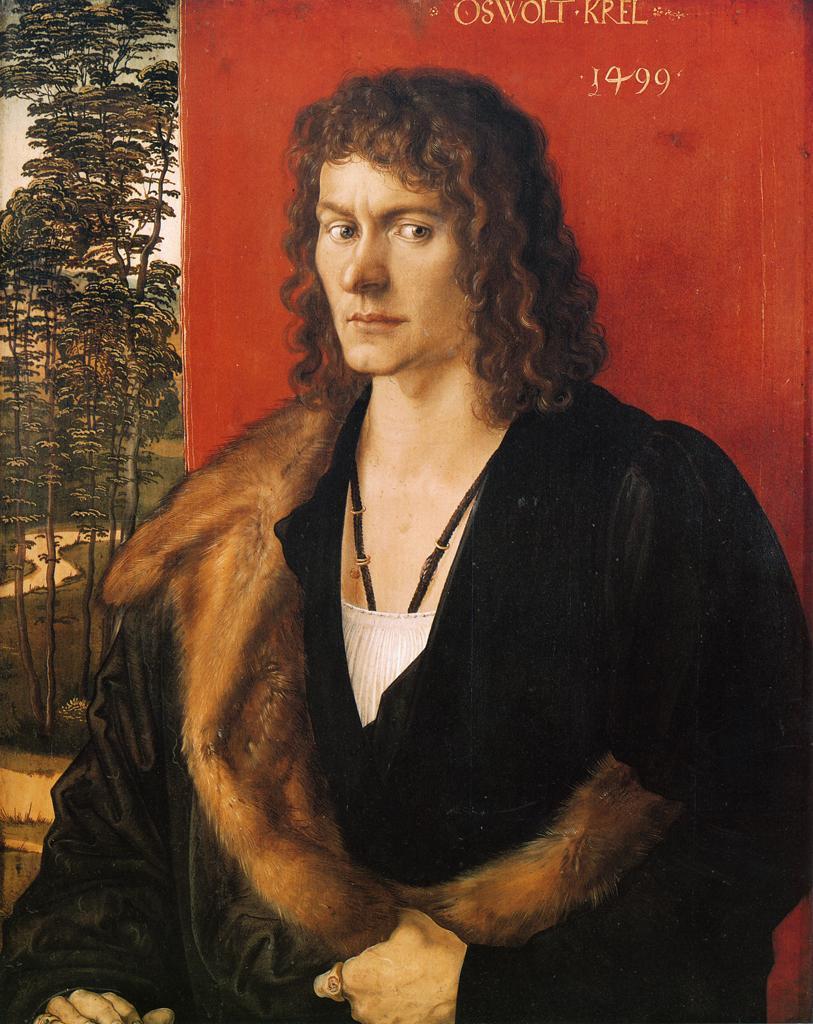 肖像油画_奥斯沃特 卡尔的肖像_Portrait of Oswolt Krel-阿尔布雷希特·丢勒