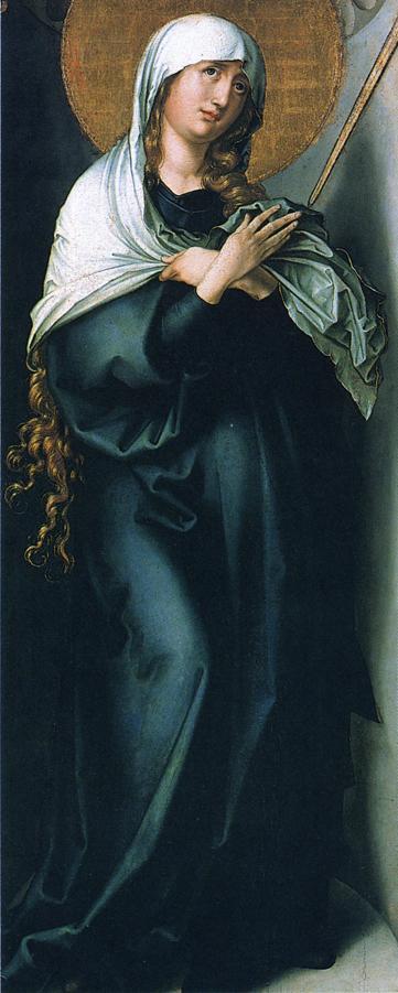 人物油画_圣母的七样灾病:灾病之母_The Seven Sorrows of the Virgin: Mother of Sorrows-阿尔布雷希特·丢勒