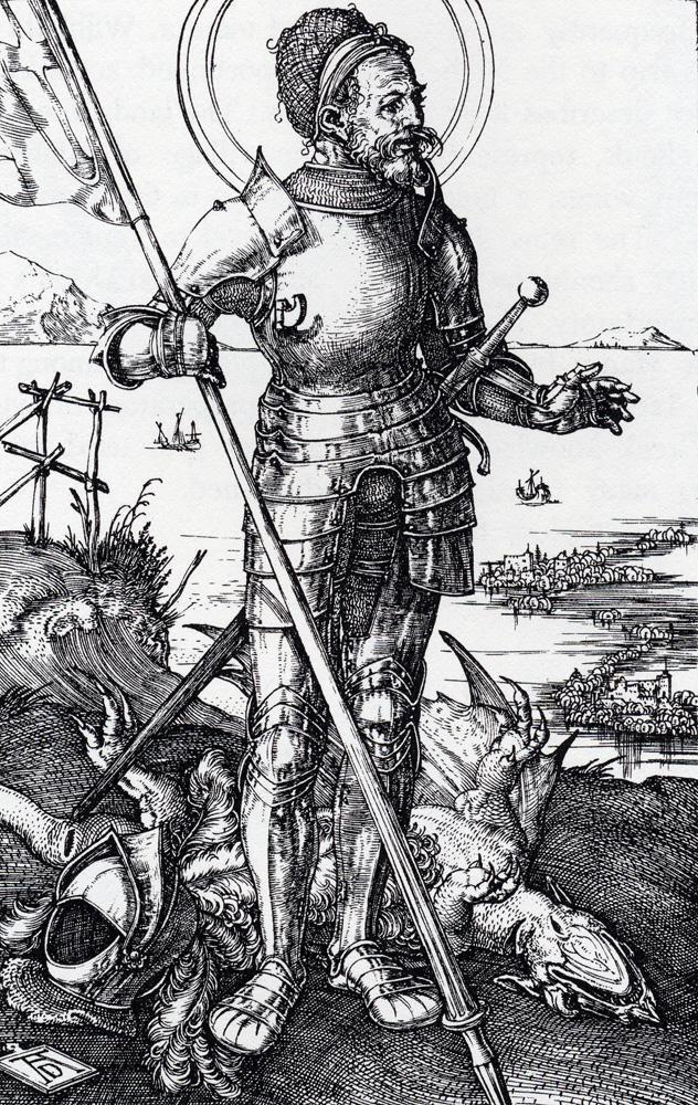 人物版画_徒步的圣乔治_St. George On Foot-阿尔布雷希特·丢勒