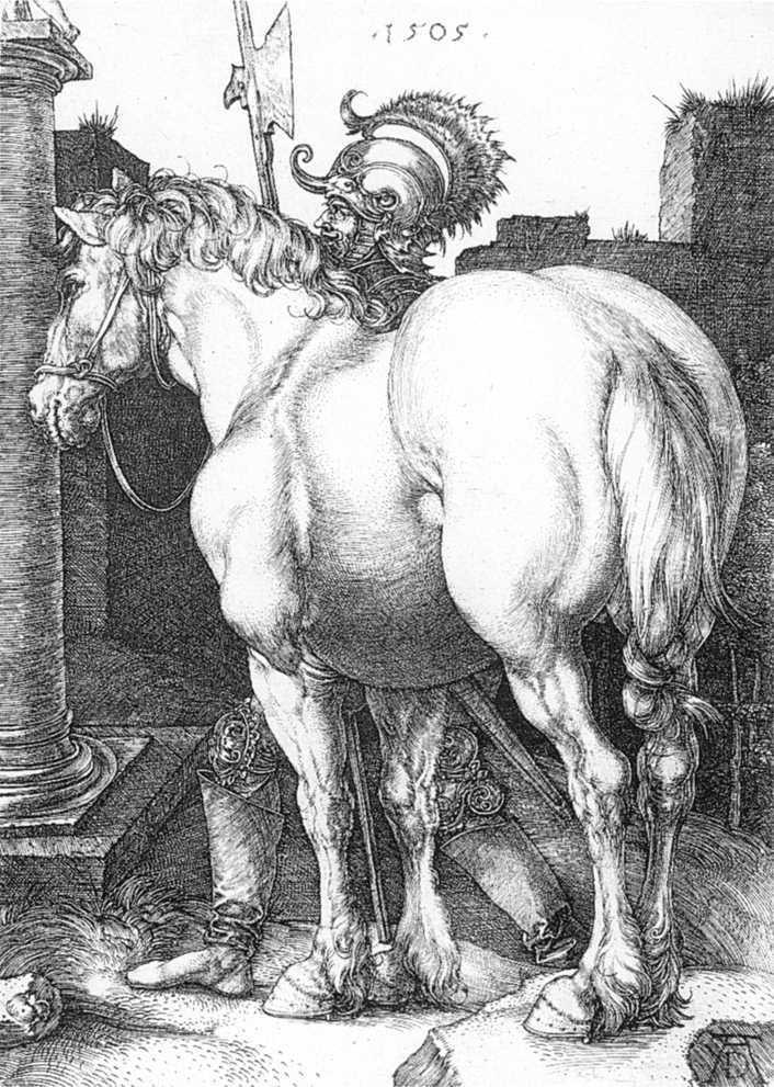 雕刻版画_大马_Large Horse-阿尔布雷希特·丢勒