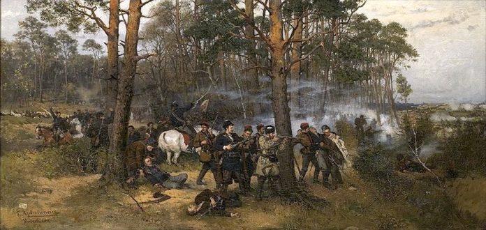 波兰1863年起义的场景