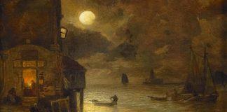 码头的满月之夜