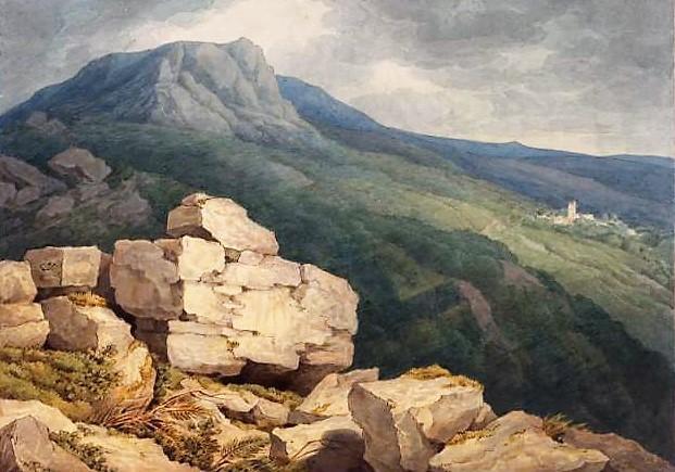 德文郡的牧羊人和村庄_Sheepstor and village, Devon-约翰·怀特·阿伯特