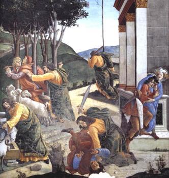 摩西的试炼和呼召(细节7)_The Trials and Calling of Moses (detail 7)-桑德罗·波提切利