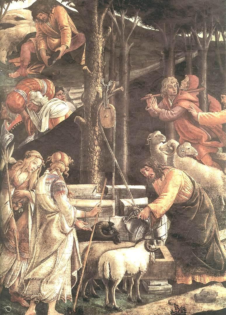 摩西的试炼和呼召(细节2)_The Trials and Calling of Moses (detail 2)-桑德罗·波提切利