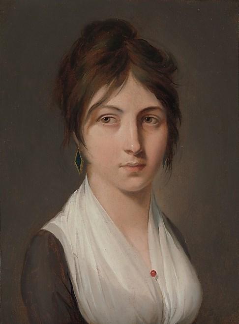 一个年轻女人的画像_Portrait of a Young Woman-路易斯·莱奥波德·博伊