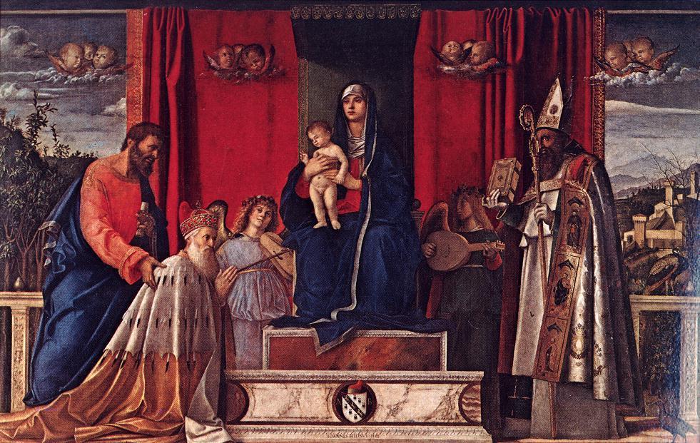 巴巴里格祭坛的装饰品_Barbarigo Altarpiece-乔凡尼·贝里尼