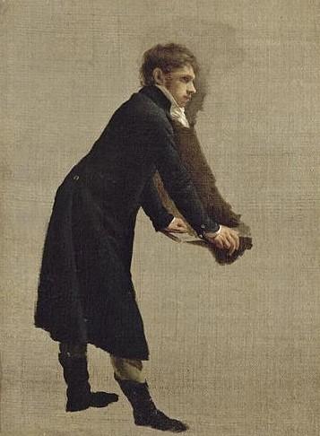 让·弗朗索瓦·范·达尔画像研究(1764-1840)_Study for a portrait of Jean-François van Dael (1764-1840)-路易斯·莱奥波德·博伊