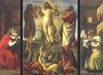 变形术,圣杰罗姆,圣奥古斯丁_Transfiguration, St Jerome, St Augustine-桑德罗·波提切利