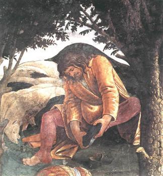 摩西的试炼和呼召(细节4)_The Trials and Calling of Moses (detail 4)-桑德罗·波提切利