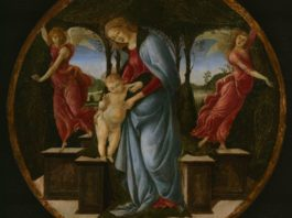 圣母、圣婴和两个天使