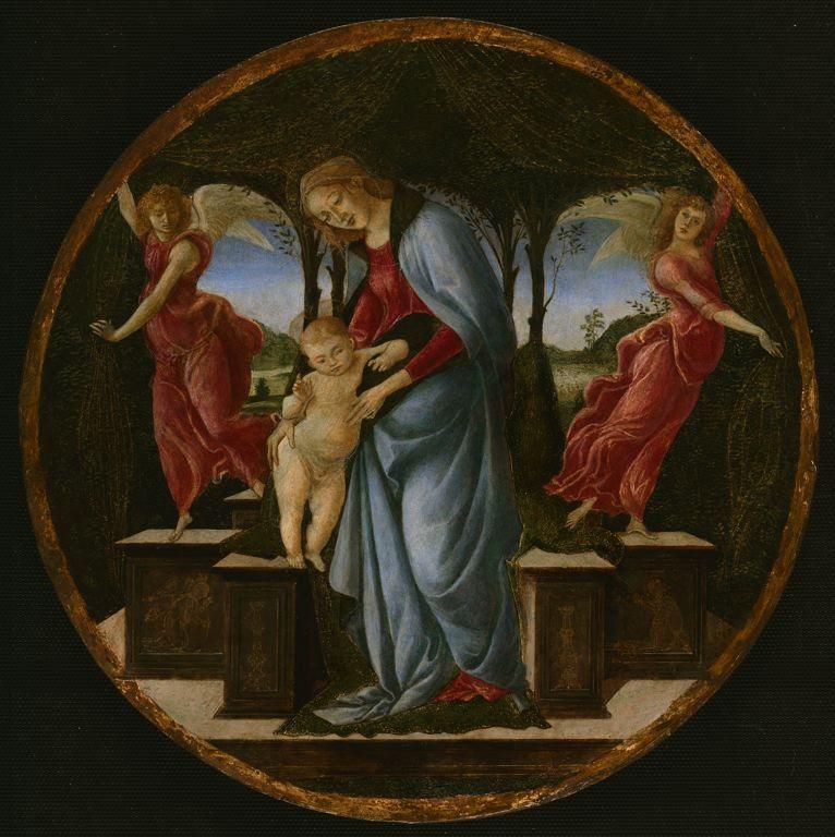 童女和两个天使_Virgin and Child with Two Angels-桑德罗·波提切利