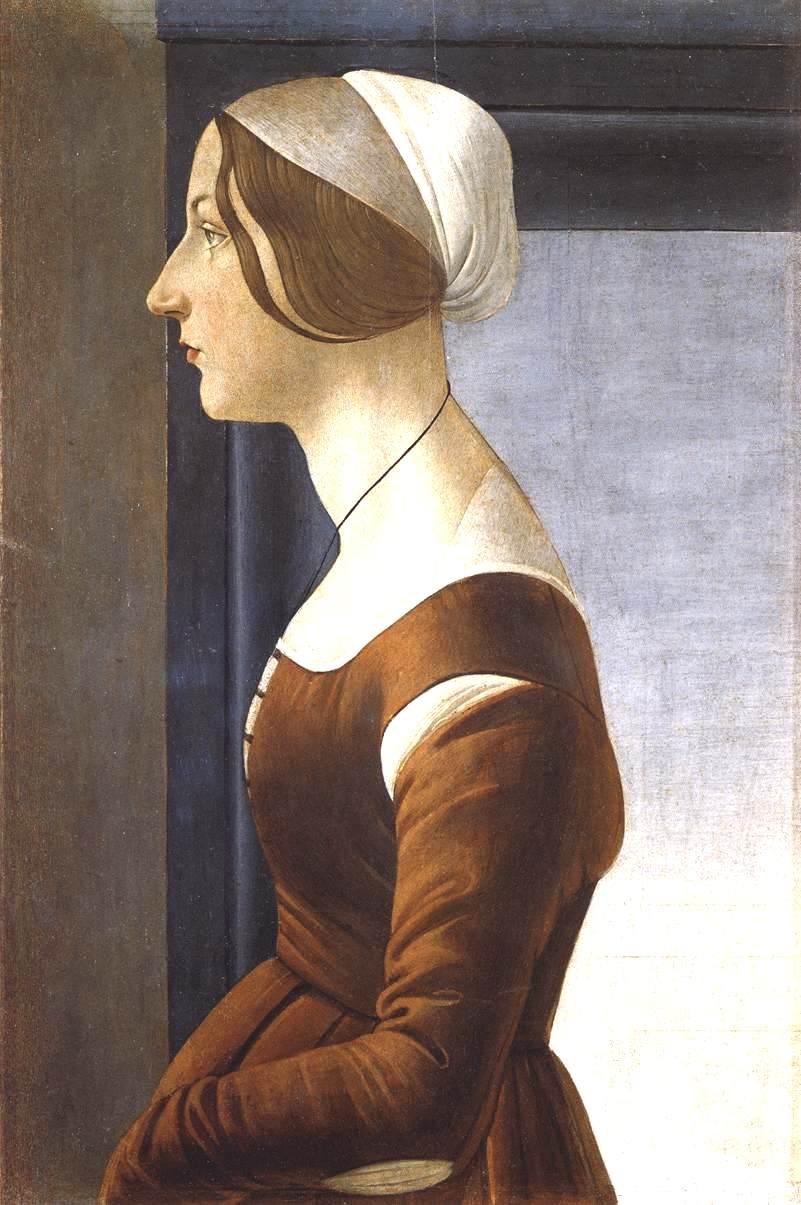一个年轻女人的肖像_Portrait of a Young Woman-桑德罗·波提切利