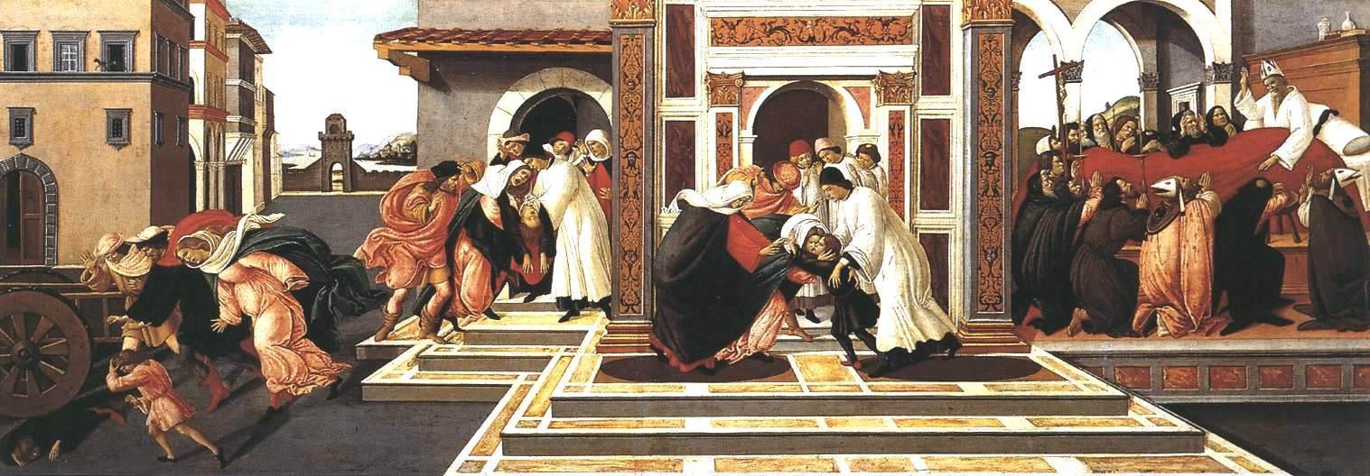 最后的奇迹和圣泽诺比乌斯之死_Last Miracle and the Death of St Zenobius-桑德罗·波提切利