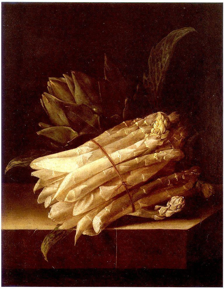 芦笋和洋蓟的静物_Still Life with Asparagus and Artichoke-艾德里安·库特