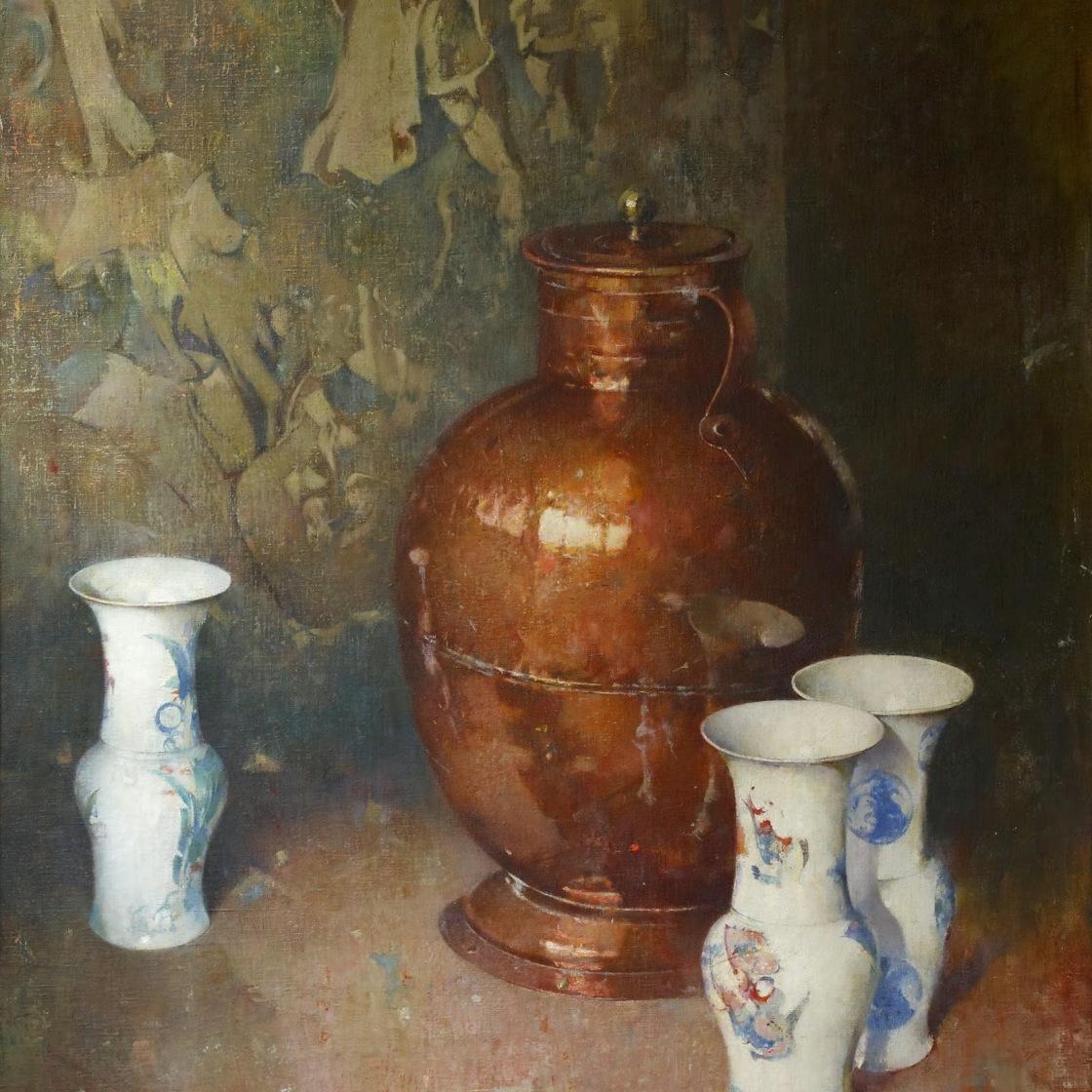 铜壶和瓷器_Copper and Porcelain-索伦·埃米尔·卡尔森