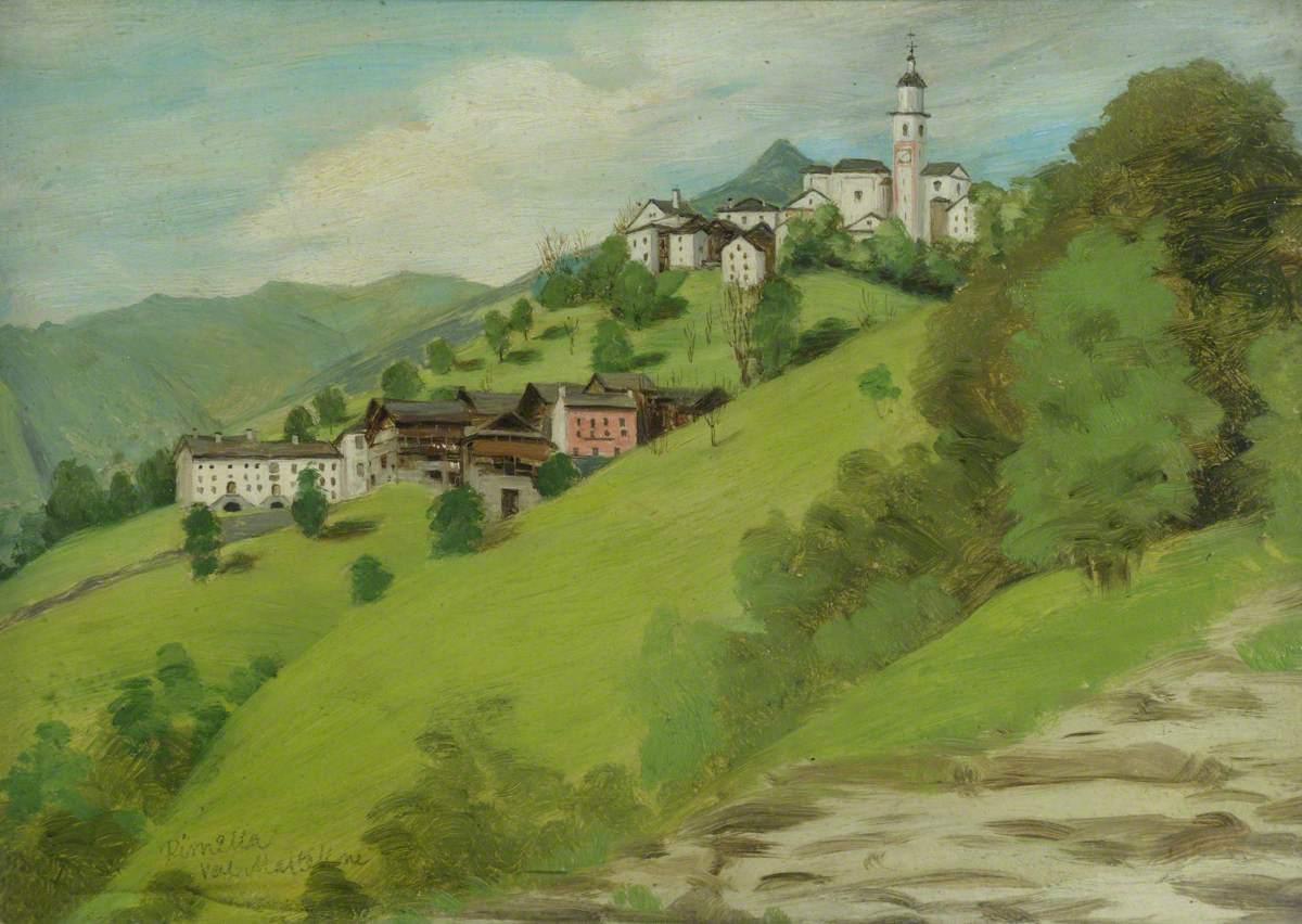 风景,里默拉,瓦尔·马斯特隆_Landscape, Rimella, Val Mastellone-塞缪尔·巴特勒