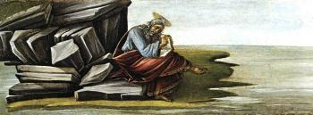 圣马可祭坛上的圣约翰_St John on Patmos (San Marco Altarpiece)-桑德罗·波提切利