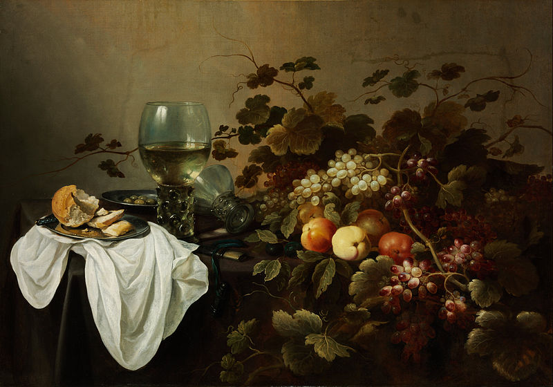 静物与水果和罗默_Still Life with Fruit and Roemer-彼特·克莱茨