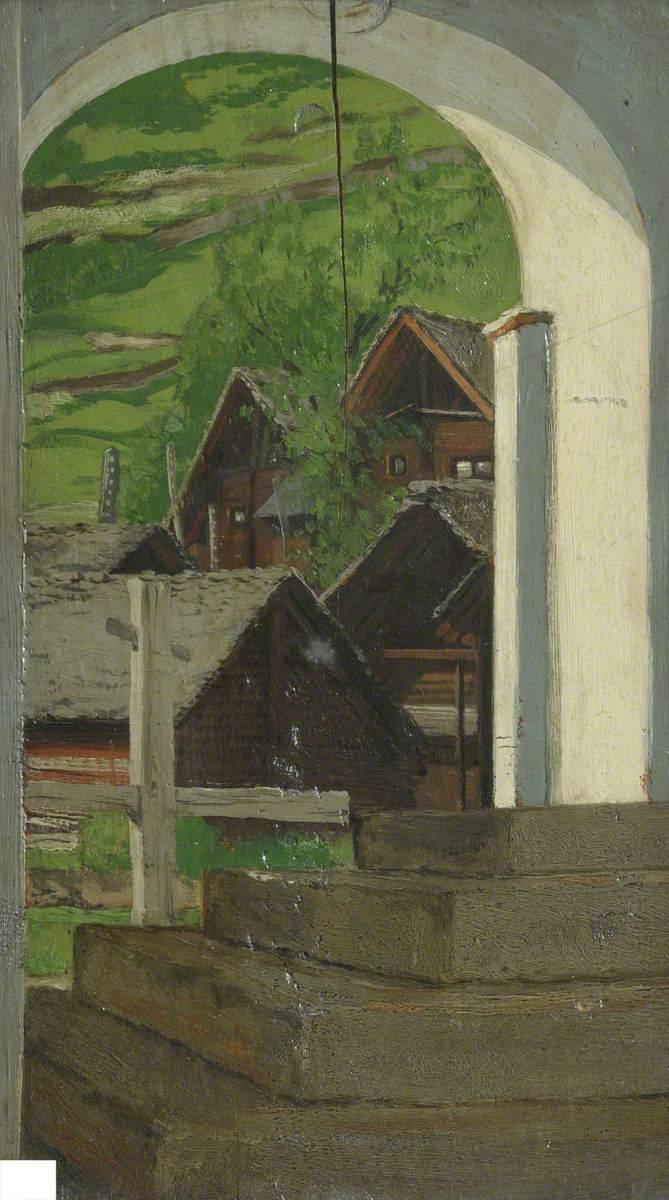 风景,罗苏拉门廊,瓦尔·莱文蒂纳_Landscape, Rossura Porch, Val Leventina-塞缪尔·巴特勒