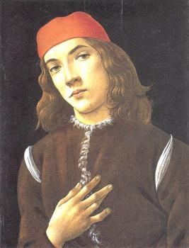 青年画像_Portrait of a Youth-桑德罗·波提切利