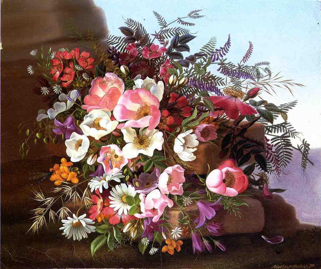 野花(美蔷薇、雏菊、杜凌霄)-阿德莱德·迪特里希
