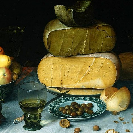 奶酪和水果的静物(细节)_Still Life with Cheeses and Fruit(detail)-弗洛里斯·范·戴克
